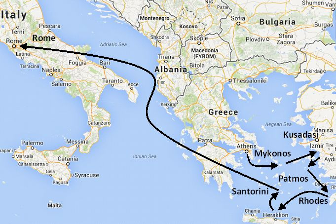 Greece and Italy vacation package, Greek islands and Italy tour and ...
