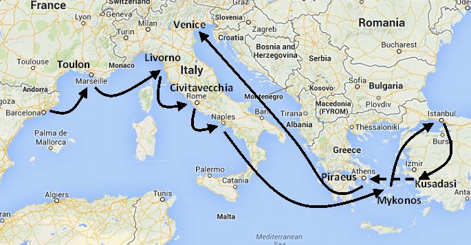 Mediterranean Vacations Cruises Combining Italy Greece And Turkey - Greek island cruises