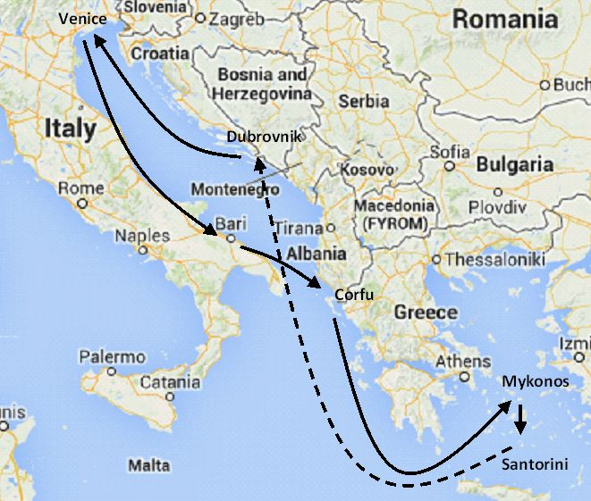 Eastern Mediterranean cruises, Greek islands, Italy and Croatia cruise