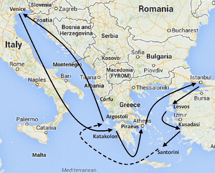 Mediterranean cruises Italy Greece and Turkey cruises