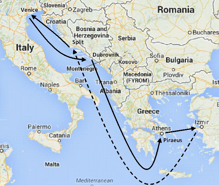 Italy Greece Croatia And Turkey Cruise Itineraries East