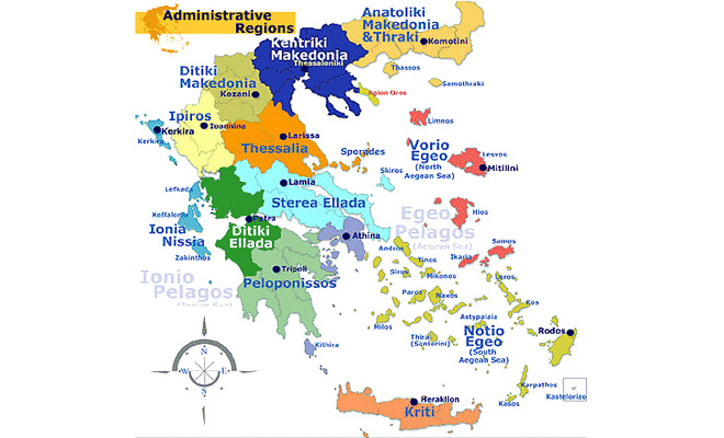 Maps Of Greece - Map of greece